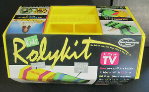 Rolykit Model S11 Crafts Jewelry Sewing Roll Up Organizer USA Yellow/Pink NOS