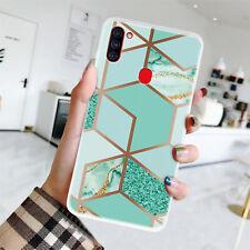 Для Samsung Galaxy A11 A21 A41 A51 роскошный Marble геометрические гель чехол телефона