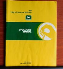 John Deere - A18 High-Pressure Washer - Operator's Manual - Om-Ty3850 I7
