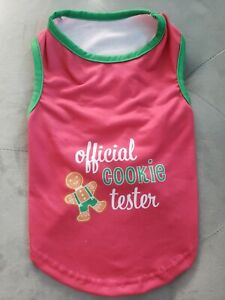 NEW Official Cookie Taster Christmas Pet Dog Puppy Pajama shirt (M) so cute!