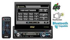 PLTS78DUB 7'' 1 DIN In-Dash Detach Touch LCD DVD CD MP3 USB Bluetooth Receiver