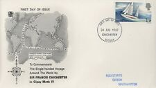 Sir Francis CHICHESTER 1967 Voyage autour du monde FIRST DAY COVER-Chichester