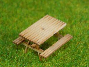 12 picnic tables -00 gauge bench 1:76 model railway pub garden detail wood kit