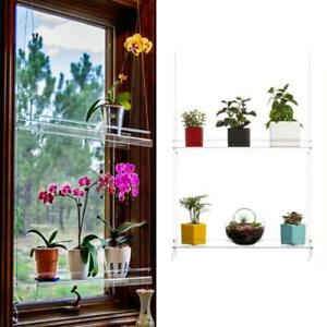 2/3 layer Acrylic Hanging Window Plant Shelves Hanging Shelf For Plants Kitch