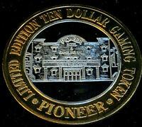 .999 $10 Pioneer Hotel & Gambling Hall Silver Strike • Laughlin • Casino