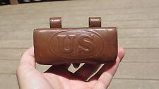 Pre-WW1 US Army Military .38 Revolver Leather Ammo Pouch 1908
