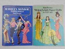Tom Tierney Marilyn Monroe Vivien Leigh Lot of 2 Paper Doll Books NEW UNUSED