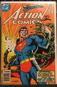 RARE! ACTION COMIC #485 Signed NEAL ADAMS 1978 Superman BREAKING CHAINS Classic