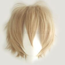 100% Cool Male Men Anime Cospaly Costume Wig Short Straight Shaggy Pixie Wig 2Hf