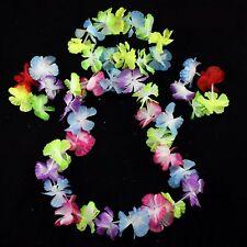 4 piece set Hawaiian lei flower necklace wrist bracelet dancing party hula