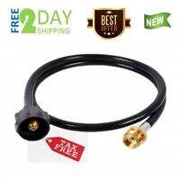 4 Feet Propane Hose Adapter Grill Tank Connector 1 lb to 20 lb Replacement QCC1