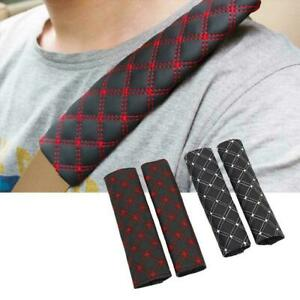 2x Car Seat Belt Cover Pads Car Safety Cushion Covers Strap Pad For Adults Kids