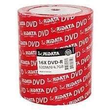 100 Ritek Ridata Branded 16X Logo Top DVD-R DVDR Blank Disc Media 4.7GB