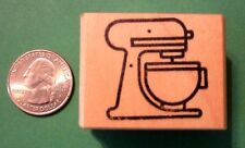 Mixer Bowl - Kitchen - Cooking,  Wood Mounted Rubber Stamp