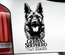 German Shepherd Sticker, Alsatian GSD Dog Car Stickers Window Decal - V07B BLK