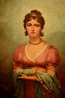 ABBEY ALTSON Classic Romantic Female Figure Moonlight Lady Portrait Oil Painting