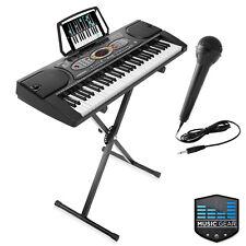 Open Box - 61-Key Electronic Keyboard Digital Piano with Usb, Mic & Stand