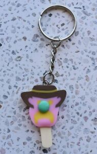 AU Seller Bubble O Bill Icecream Bubblegum Keyring Keychain Kids Novelty Gift