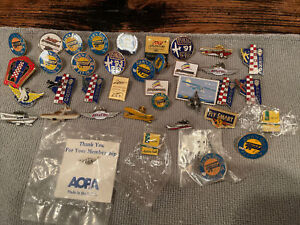 Lot of 38 Aviation Collectable Pin Lot EAA AOPA Reno AIR BP Michelin AIRVENTURE