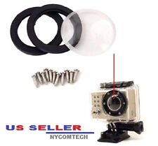 Replacement Glass Lens Kit Cover Lens Waterproof Housing Case for GoPro Hero 2