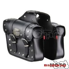 Black Luggage Tool Bags Saddlebags For Yamaha Road XV1600A Star V-Star 950 650