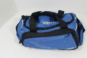 SPEEDO Blue Duffle Gym Bag Swim Medium Zipper Travel