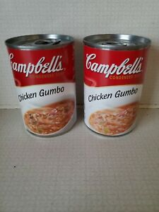 Lot Of 2 Cans Of Campbell's Chicken Gumbo Soup May 2022 No Dents