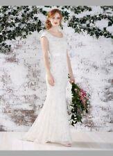 BNWOT Monsoon Bridal Dress UK 12 Ivory Wedding Designer Embellished RRP£499