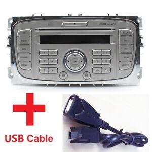 Ford Autoradio 6000 CD S- C-Max  Mondeo Fokus  USB CD MP3 Player + USB-Kabel DE