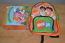 Lot 10 Scholastic Nick Jr Book Club Books + Backpack Blue's Clues Dora Explorer