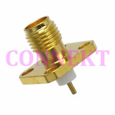 1pce SMA female with 4 holes flange PTFE deck solder RF connector
