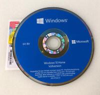 Windows 10 Home 64Bit DVD + Win 10 Home Product Key Lizenz  COA OEM