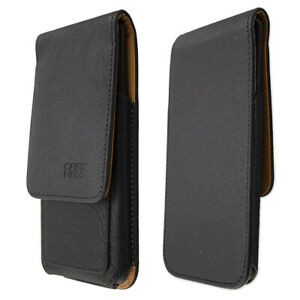 caseroxx Flap Pouch for Fairphone 3 in black made of real leather