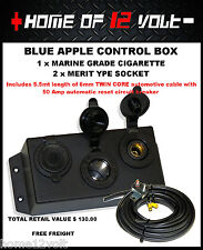 Accessory box 2x Hella / Merit and 1x Cigarette + 5.5mt 6mm cable + c/breaker