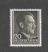 MNH Adolph Hitler stamp 20GR / 1941 issue / Third Reich / Occupied Poland / MNH