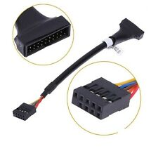 15cm USB 2.0 9 Pin Header Female to Motherboard USB 3.0 20 Pin Male Cable