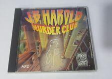 J.B. Harold Murder Club TurboGrafx16 TG16 Turbo CD