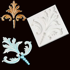 Flourish Scroll Fondant Silicone Molds Cake Mould Chocolate Beads Sugarcraft New
