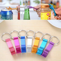 2/3/5X Metal Key Chain Ring Keychain Creative Beer Bottle Opener Random Color_ti