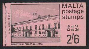 Malta 1970 2/6 Magisterial Palace Booklet SG# SB2 NH