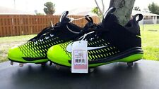 New Nike Men's Mike Trout 2 Pro Metal Baseball Softball Cleats Black/Volt Ussz 8