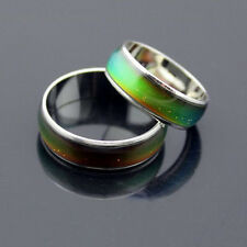 6mm Wide Smart Stainless Ring Changing Color Mood Feeling Emotion Temperature