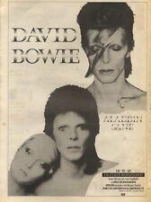 21/7/90 Pgn02 Advert: David Bowie aladdin & Sane Digitally Remastered 15x11