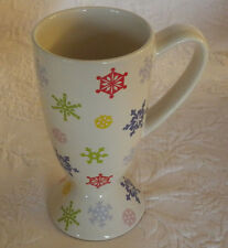 "Whittard of Chelsea 2005 Snowflakes Coffee Mug Tea Cup 6"""