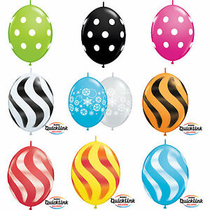"10 x 12"" Quick Link Printed Qualatex Latex Balloons - Linking Garland Decoration"