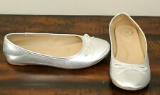 Silver Ballet Flats sz 3 Girls Shoes So Spring Easter
