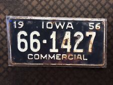 1956 IOWA COMMERCIAL LICENSE PLATE 66 1427