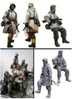 1/35 Resin Figure Model Kit German Soldiers Infantry WWII WW2 Unpainted Unassamb