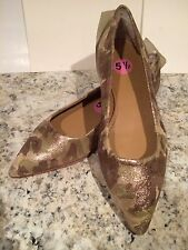 Ugg Collection Linda Ballet Flats Fur Gold Shimmer Camo Camouflage 5.5 New Italy