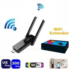 300Mbps WiFi Amplifier USB Wireless Repeater Network Wi-Fi Router Extende #Cu3